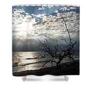 Sunrise Prayer On The Beach Shower Curtain