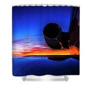 Sunrise Pre Flight Shower Curtain