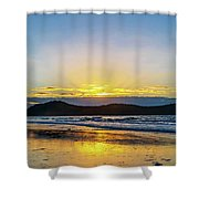 Sunrise Seascape And Crepuscular Rays Shower Curtain