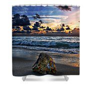 Sunrise Seascape Wisdom Beach Florida C3 Shower Curtain