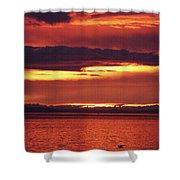 Sunrise Sekiu Washington Shower Curtain
