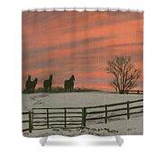 Sunrise Silhouettes Shower Curtain