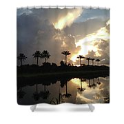 Sunrise Storm Shower Curtain