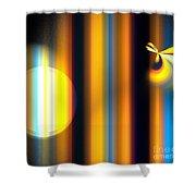 Sunrise Stripes Shower Curtain