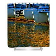 Sunrise / Sunset / Sailboats Shower Curtain