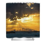 Sunrise Surf Spray Delray Beach Florida Shower Curtain