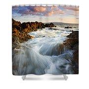 Sunrise Surge Shower Curtain by Mike  Dawson