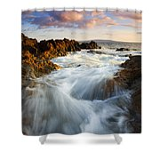 Sunrise Surge Shower Curtain