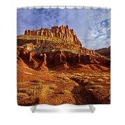 Sunrise The Castle Capitol Reef National Park Utah Shower Curtain