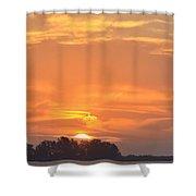 Sunrise Through Clouds 2451 Shower Curtain