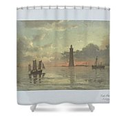 Sunrise To Painting By Frederick C. Sorensen, Anonymous, After Carl Frederik Sorensen, 1868 - 1876 Shower Curtain