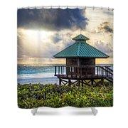 Sunrise Tower At The Beach Shower Curtain