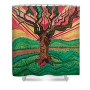 Sunrise Treeair Shower Curtain