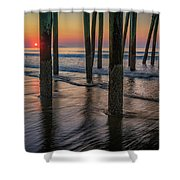 Sunrise Under The Pier Shower Curtain