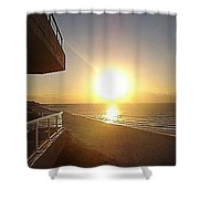 Sunrise View From The Balcony Shower Curtain