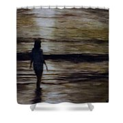 Sunrise Walk In The Sea Shower Curtain