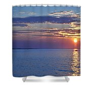 Sunrise With Boat Shower Curtain