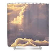 Sunrise With Shadows Shower Curtain