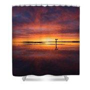 Sunrise Yoga Shower Curtain