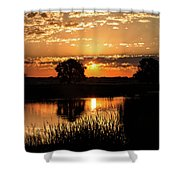 Sunrise's Crepuscular Rays Shower Curtain