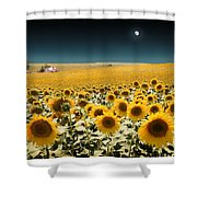 Suns And A Moon Shower Curtain
