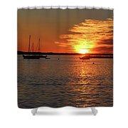 Sun's Up Provincetown Pier 3 Shower Curtain