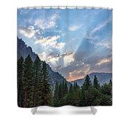 Sunset 1 Yosemite  Shower Curtain