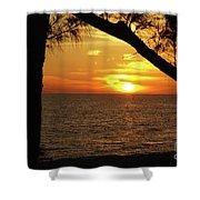 Sunset 2 Shower Curtain by Megan Cohen