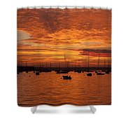 Sunset 4th Of July Shower Curtain