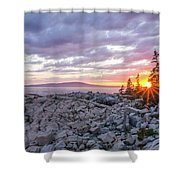 Sunset Acdia National Park  Shower Curtain