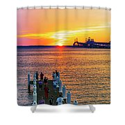 Sunset Across The Chesapeake Shower Curtain