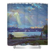 Sunset After The Rain Shower Curtain