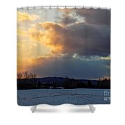 Sunset After Wild Day Shower Curtain