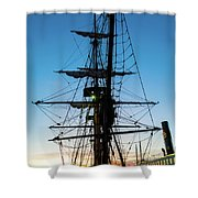 Sunset Ahoy Shower Curtain