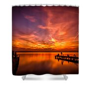 Sunset Albufera Shower Curtain