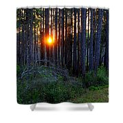 Sunset Along The Florida Trail - St.marks Shower Curtain