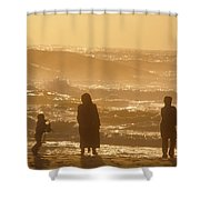 Sunset Along The Ocean East Of The City Shower Curtain