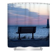 Sunset And Bench Shower Curtain