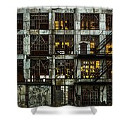 Sunset And Broken Glass The Fort William Starch Company Shower Curtain