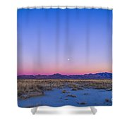 Sunset And Gibbous Moon Shower Curtain