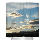 Sunset And Iridescent Cloud Shower Curtain