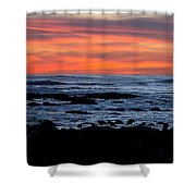 Sunset And Rocks Shower Curtain