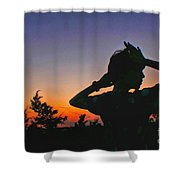Sunset And Shadows Shower Curtain