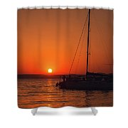 Sunset And Silhouette Shower Curtain