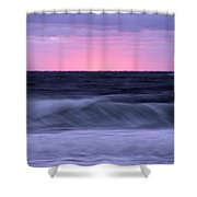 Sunset And Storm Surf On The Gulf Shower Curtain