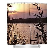 Sunset And Water Shower Curtain