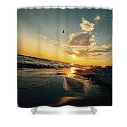 Sunset Angle Shower Curtain