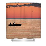Sunset Anglers Shower Curtain
