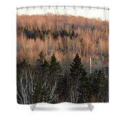 Sunset April 19 Shower Curtain