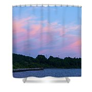 Sunset Aquidneck Island Shower Curtain